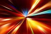 Astratto accelerazione velocità movimento sulla strada di notte — Foto Stock