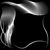 Abstract silhouette of wavy patterns — Stock Photo