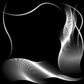 Silueta abstracta de patrones ondulados — Foto de Stock