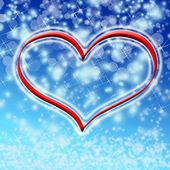 Winter heart valentine — Stock Photo