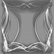 Abstract wavy frame silhouette patterns — Stock Photo #20108493