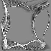 Abstrakte wellenförmigen rahmen silhouette muster — Stockfoto