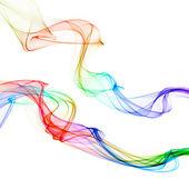 Abstract colorful smoke waves — Stock Photo