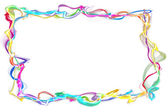 Abstract ribbon frame — Stock Photo