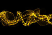 Abstract yellow twisted waves smoke — Stock Photo
