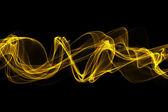 Soyut sarı bükülmüş dalgalar duman — Stok fotoğraf