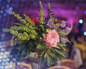 Floral bouquet at the banquet — Stock Photo