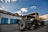 Old broken truck in HDR — Stock Photo