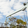 Large shipbuilding crane — Stock Photo