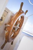 Brown steering wheel — Stock Photo