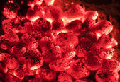 Hot sparking live-coals — Stock Photo
