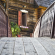 Decorated with a small wooden bridge — Stock Photo #18529627