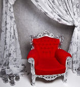 Big red chair — Stock Photo