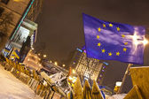 Pro-European Union protesters on Maidan. — Stock Photo