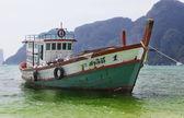 Old cargo boat — Stock Photo