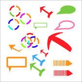 Vector Arrows Set different isometric arrow sign — Stock Vector
