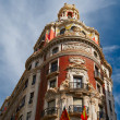 Stock Photo: Historic buildings with lace fronts Spain