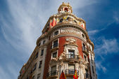 Historic buildings with lace fronts Spain — Stock Photo