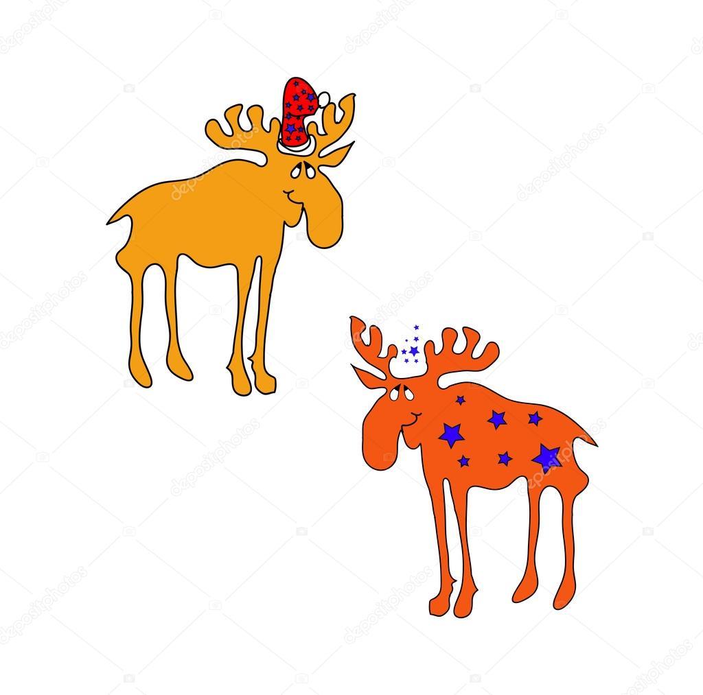 Lustige braun weihnachten elch l 228 cheln stockvektor 169 larisa13