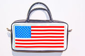 Bag, symbol of American flag — Stock Photo