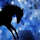Horse fine vector silhouette color — Stock Vector