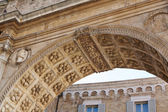 Antique ancient architectural details of Europe — Stock Photo