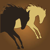 Beautiful BROWN horse silhouette — Stock Vector