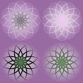 Colorful Vintage flower purple Seamless pattern — Stock Vector