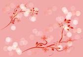 Pobočka japonské květy růžové pozadí — Stock fotografie