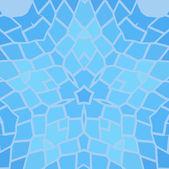 Vintage blau mit schwarz Mosaik Blütenblatt Blüte — Stockvektor
