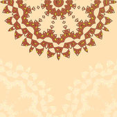Lace paisley floral colorful ethnic ornament — Stock Vector