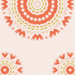 Lace floral colorful ethnic ornament — Stockvectorbeeld