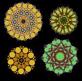 Lace floral kleurrijke etnische ornament — Stockvector