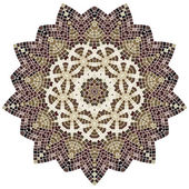 Lace floral colorful ethnic ornament — Vettoriale Stock