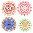 Lace floral colorful ethnic ornament — ベクター素材ストック