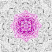 Lace floral purple magic ethnic ornament — Vector de stock