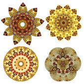 Koronki kwiatowy ornament etniczne kolorowy — Wektor stockowy