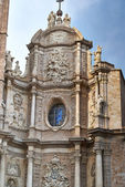 Valencia, Spain, facade of the Cathedral Church. — ストック写真