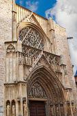 Valencia, Spain, facade of the Cathedral Church. — Stock Photo