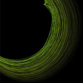 Abstract the green circle on black background — Vector de stock