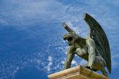 Gargoyle of bridge kingdom. Valencia. Spain — Stock Photo