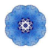 Ornement d'ethnique coloré floral dentelle — Vecteur