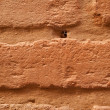 Old brick brown wall is closeup — Stock Photo #7462225