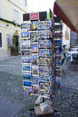 Stand with postcards depicting the attractions of Portugal, Europe. — Stock Photo