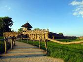 Muzeum archeologiczne stara osada Biskupin w Polsce — Stock Photo