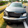 Car after accident - Stock Photo