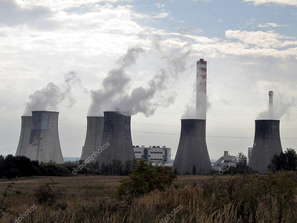 General view of the coal-fired power plants — Zdjęcie stockowe #13539231