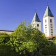 Towers of the church of St. James in Medjugorje, Bosnia and Herz — Foto Stock
