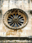 Old circular window of the church in Dubrovnik — Stock Photo
