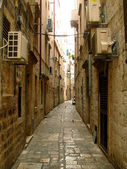 Zlatariceva narrow street in the old town of Dubrovnik — Stock Photo
